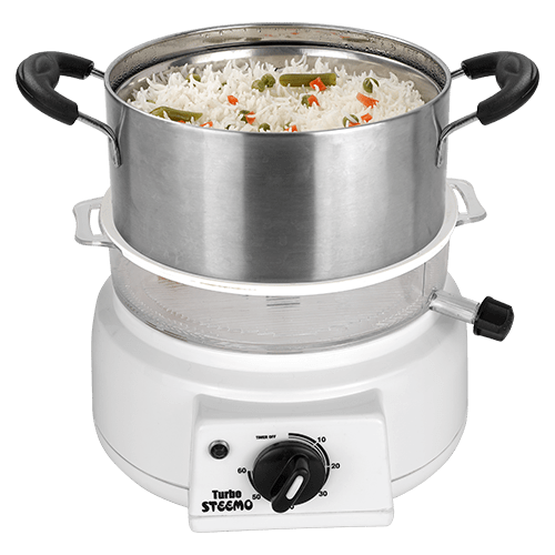 steemo steam cooker with rice maker attachment