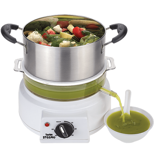steemo steam cooker with soup attachment