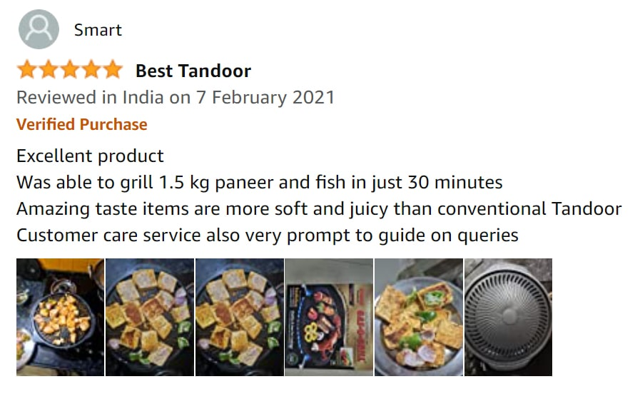 Amazon Customer review for gas o grill range