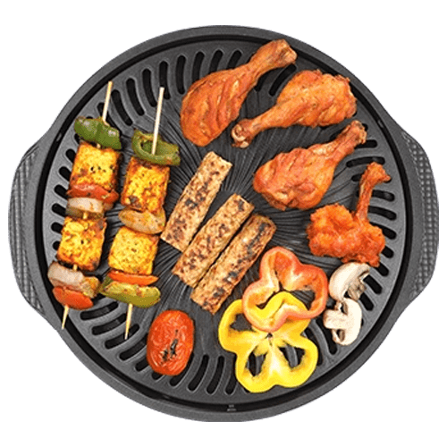 gas o grill jumbo with all type of grilling food