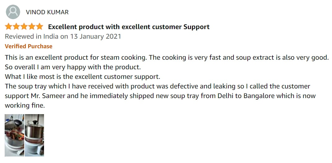 amazon customer review for steemo multi steam cooker