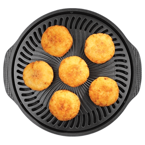 sutuffed vegtabales on gas o grill with lid model