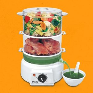 Multi Steam Cooker Polycarbonate Transparent with Non Stop Soup Maker