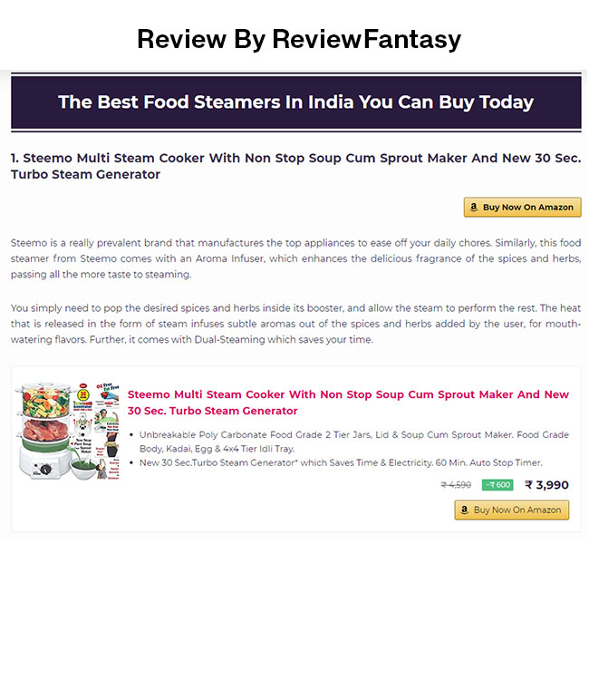 steemo in top 10 multi steam cooker by reviewfantasy